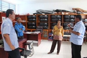 2. Kunjungan Tim Asessor Akreditasi di instansi BST-F
