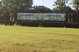 Upacara Penutupan Pendidikan Pertama Tamtama TNI AD di lapangan Rindam, Suli