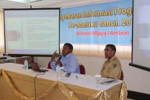 Kepala SUPM Negeri Waiheru Ambon (Bapak Jais Ely, ST, M.Si) menjadi Narasumber dalam kegiatan Penyebaran Informasi Program SMA/SMK Se-Maluku Provinsi Tahun 2014
