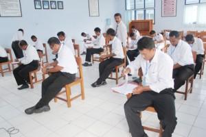 Kegiatan pelaksanaan ujian tulis