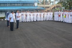 Apel peserta Ujian Nasional (UN) SUPM Negeri Waiheru Ambon dan pemberian arahan oleh pengawas dari Pusdik KP (Pengawas Eksternal) dan Pengawas dari SUPM Negeri Waiheru Ambon (Pengawas Internal)