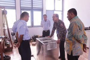 Kunjungan Kepala Pusat Pendidikan KP ke Instalasi Bengkel Mesin Pendingin