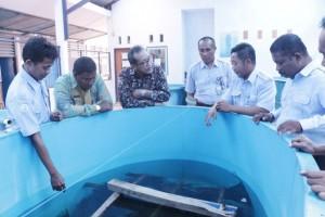 Kunjungan Kepala Pusat Pendidikan KP ke Instalasi Hatchery Budidaya Air Tawar